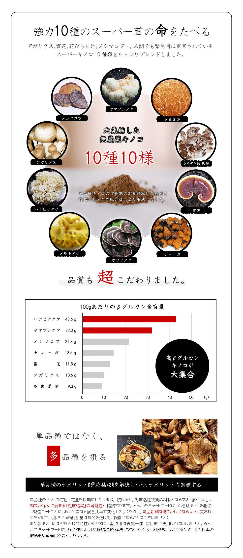 強力10種のスーパー茸の命を食べる