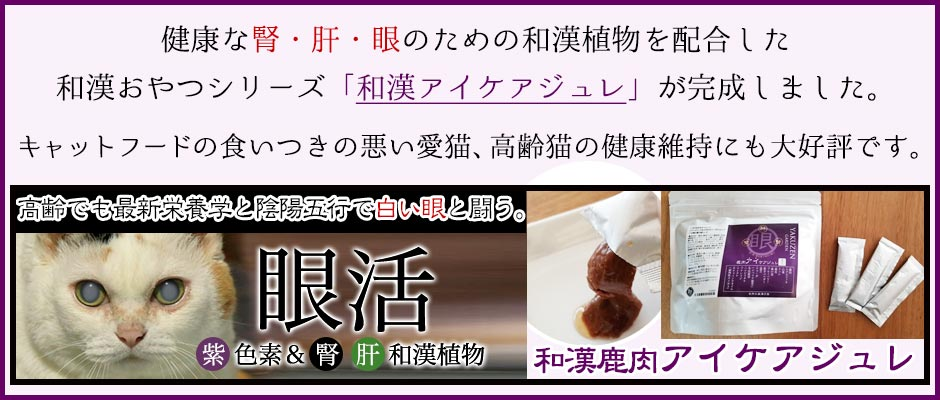 和漢みらいのドッグフード 和漢鹿肉アイケアジュレ ページへ